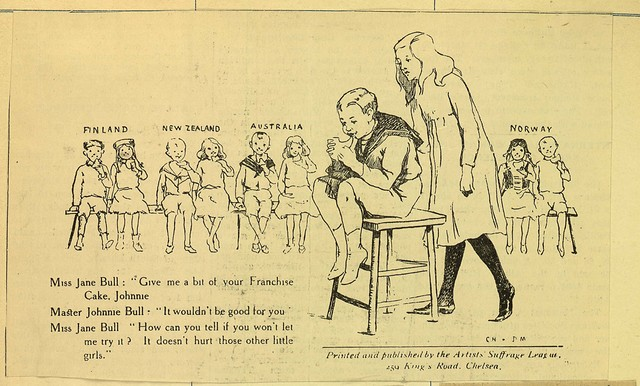 British suffrage cartoon