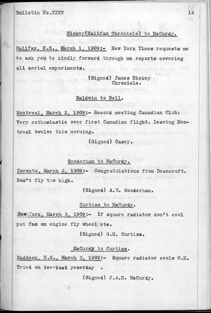 Bulletins, from January 4, 1909 to April 12, 1909
