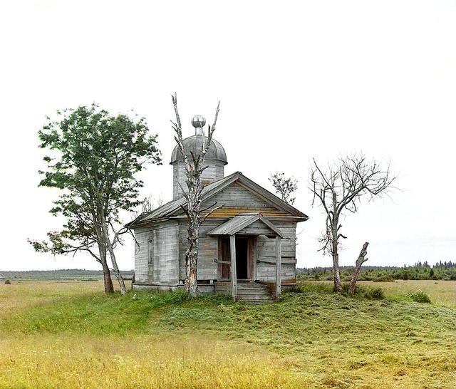 Chasovni︠a︡ na mi︠e︡sti︠e︡, gde byl v drevnee vremi︠a︡ osnovan g. Bi︠e︡lozersk. [Belozersk, Rossiĭskai︠a︡ imperii︠a︡]