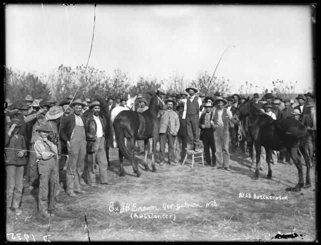 Col. J.B. Brown, auctioneer, Georgetown, Custer County, Nebraska.