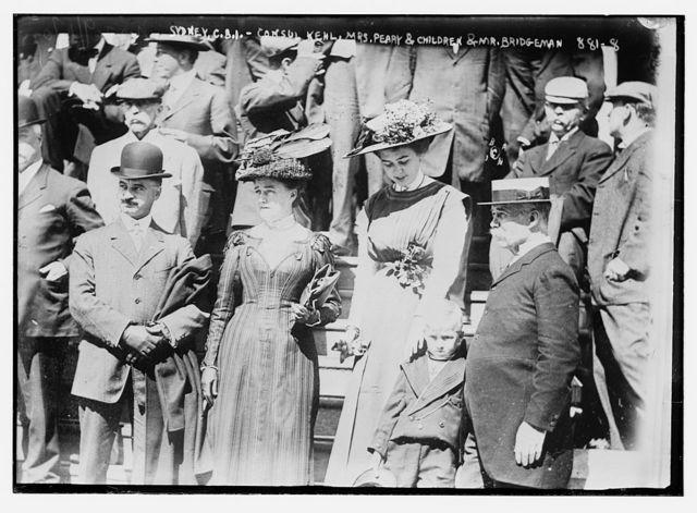 Consul Kehl, Mrs. Peary, her children, Mu. Bridgeman, Sydney, C.B.I.