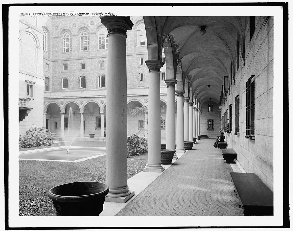 Court yard, Boston Public Library, Boston, Mass.