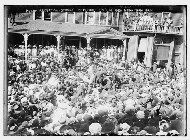 Crowd to welcome Peary, Sydney