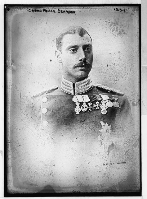 Crown Prince of Denmark, prtrait bust, in uniform