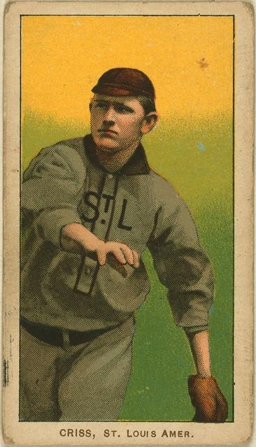 [Dode Criss, St. Louis Browns, baseball card portrait]