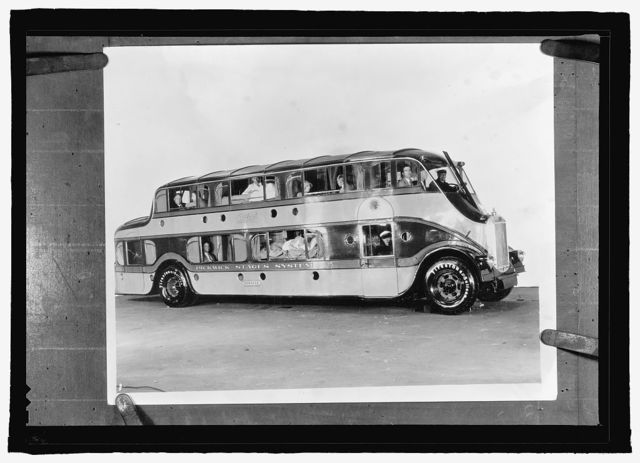 "[Double-decker bus ""Pickwick Stages System""]"