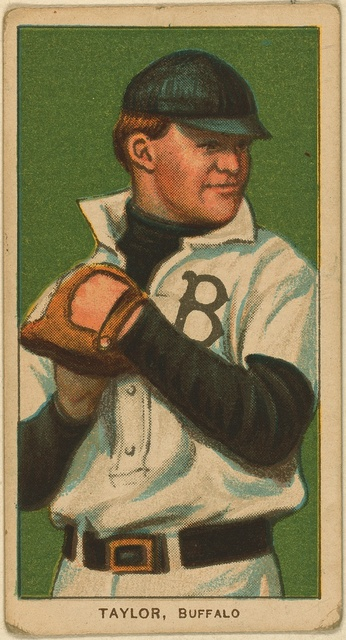 [Dummy Taylor, Buffalo Team, baseball card portrait]