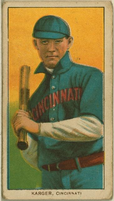 [Ed Karger, Cincinnati Reds, baseball card portrait]