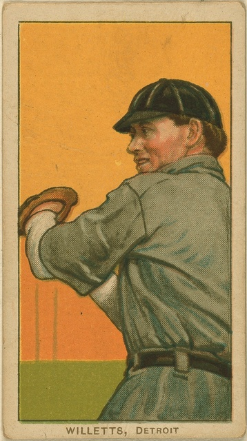 [Ed Willett, Detroit Tigers, baseball card portrait]