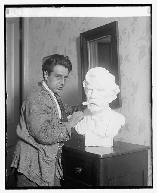 Edgardo Simone & Bust of Justice Holmes