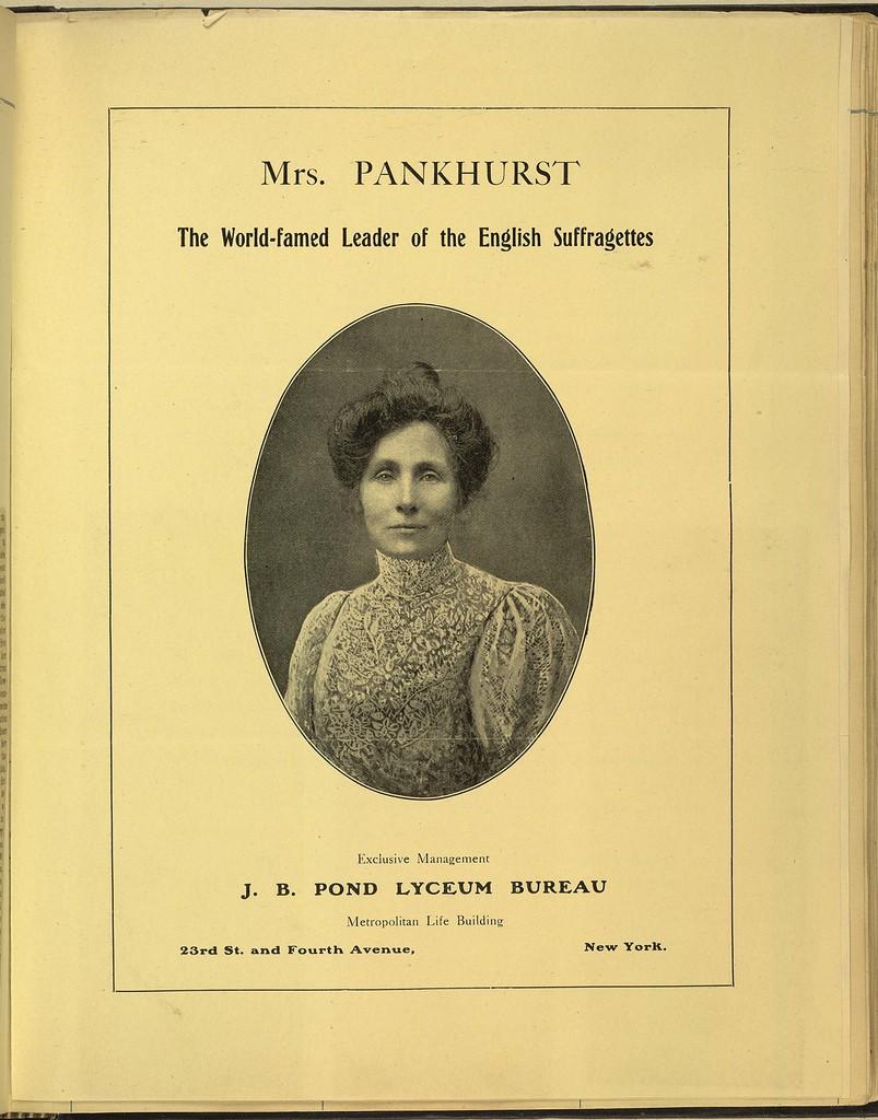 Emmeline Pankhurst, The World-famed Leader of the English Suffragettes