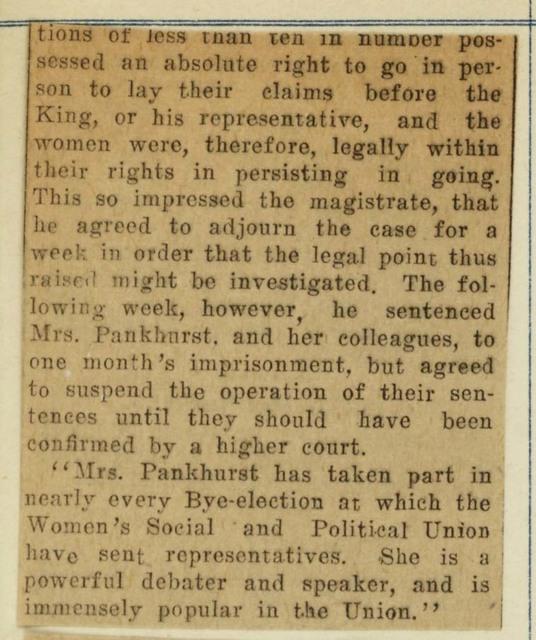 Emmeline Pankhurst, The World-famed Leader of the English Suffragettes; page 2