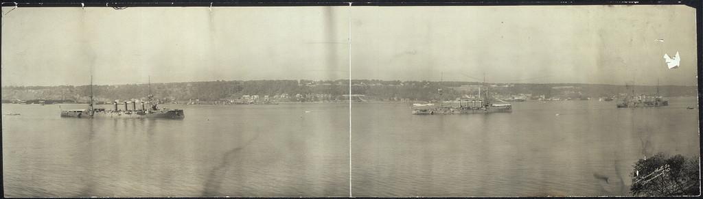 English warships on Hudson River