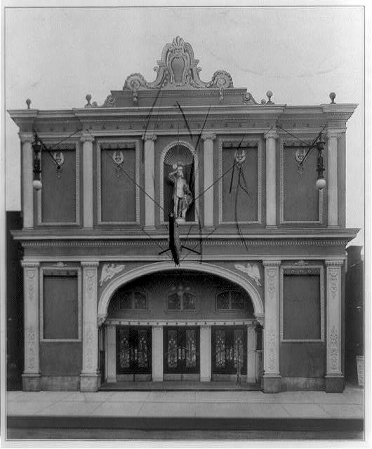 [Entrances of moving picture theaters, (Chicago?), no. 12, facade]