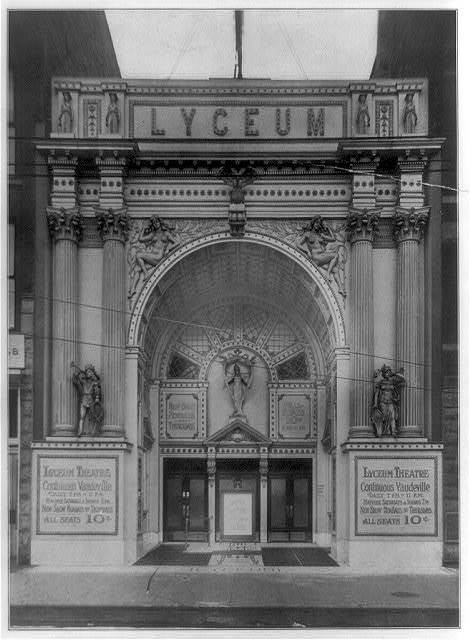 [Entrances of moving picture theaters, (Chicago?), no. 6, Lyceum Theatre]