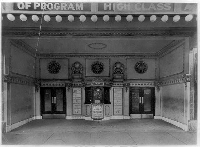 [Entrances of moving picture theaters, (Chicago?), no. 8, Revelry Theatre]