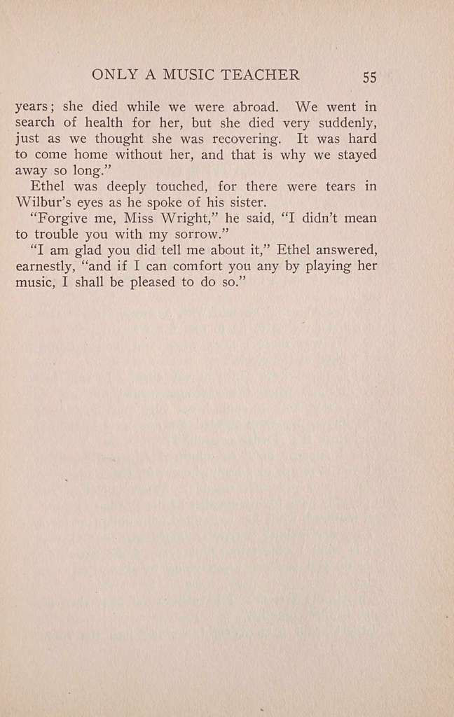 Ethel Wright, or, Only a music teacher