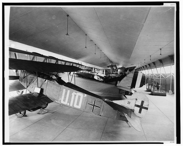 [Exhibit of early aircraft, probably at Smithsonian Institution]
