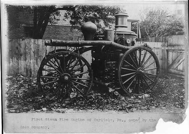 First steam fire engine of Carlisle, Pa., owned by the [Goodwill] Hose Company