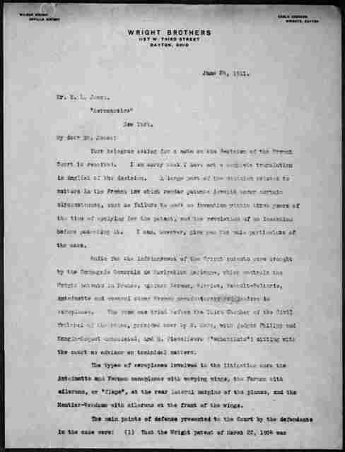 General Correspondence:  Jones, Ernest L., 1909-1911