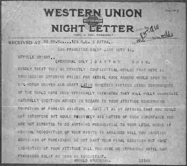 General Correspondence:  Kruckman, Arnold, 1909-1914