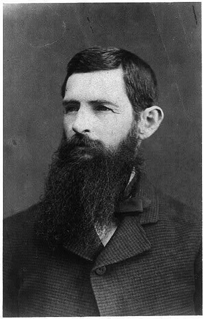[George Henry Ragsdale, head-and-shoulders portrait, facing left]