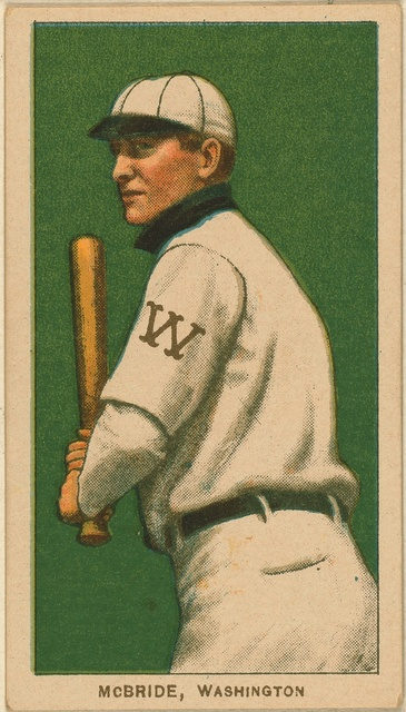 [George McBride, Washington Nationals, baseball card portrait]