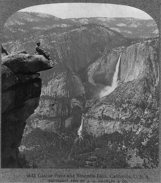 Glacier Point and Yosemite Falls, Calif.