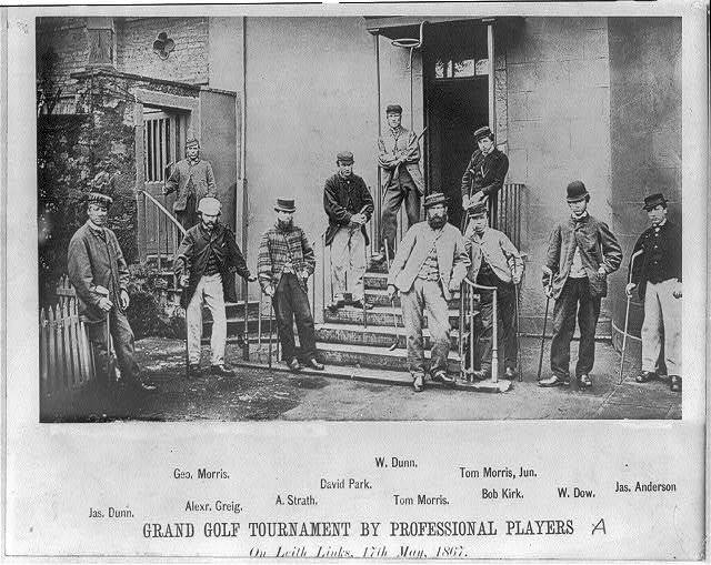Grand golf tournament by professional players on Leith Links, 17th May 1867
