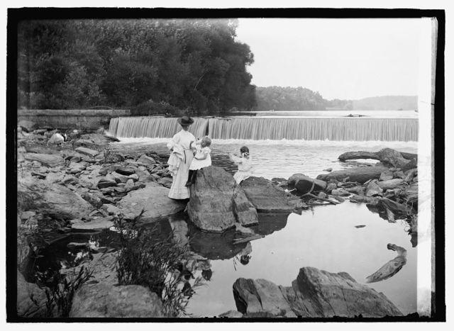 Great Fall, dam above falls