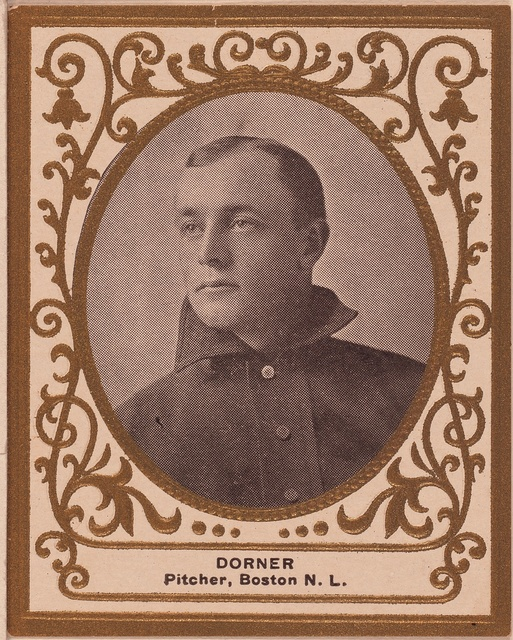 [Gus Dorner, Boston Doves, baseball card portrait]