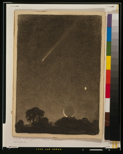 Halley's comet at dawn
