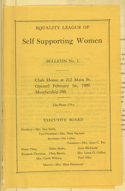 Hornell (New York) Equality League of Self-Supporting Women