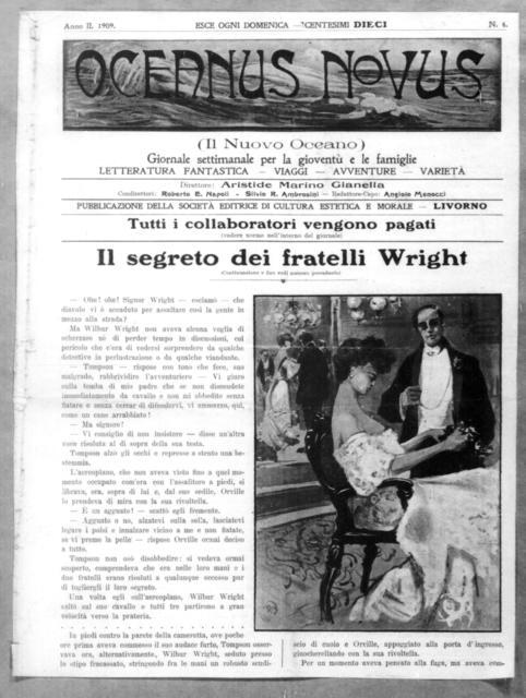 Il segreto dei fratelli Wright [Oceanus News, 1909]