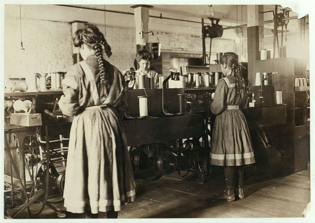 In the spool cotton dept. Bibb Mfg. Co., No. 1, Macon, Ga. Jan. 19, 1909. L.W.H.  Location: Macon, Georgia.