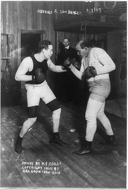 Jeffries and Sam Berger [sparring]