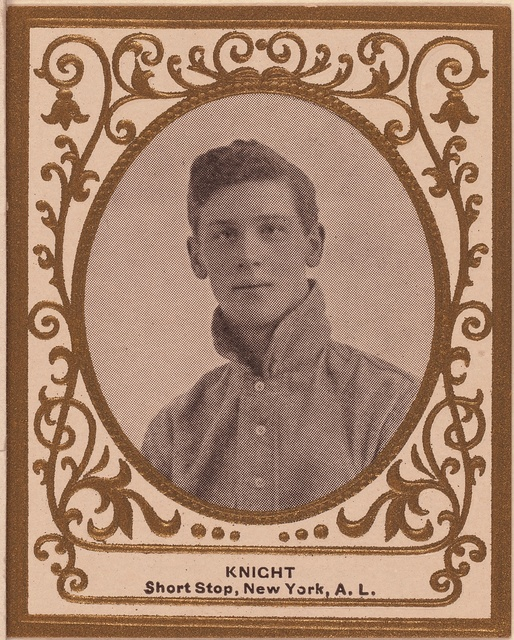 [John Knight, New York Highlanders, baseball card portrait]