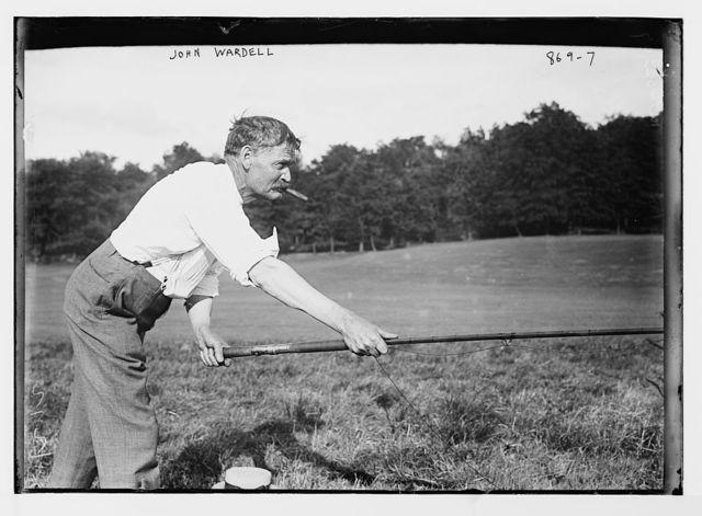 John Wardell fishing, VanCortlandt Park, N.Y.