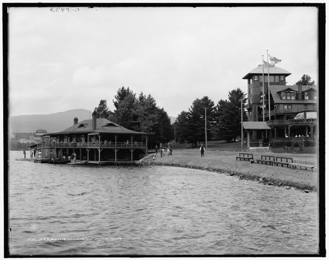 Lake Placid Club, lake house and lakeside tower