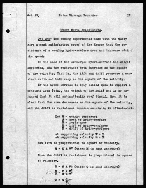 Letter to Alexander Graham Bell, December 9, 1909
