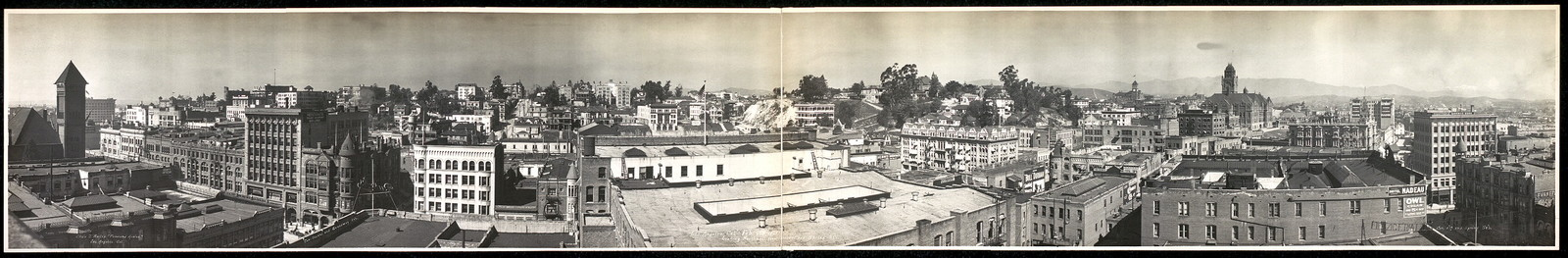 Los Angeles, Cal., Feb. 23rd, 1909, looking northwest from Second and Spring Sts.