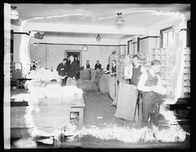 Mailing room, War Risk