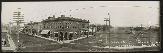 Main St. & Ave. D., Rush City, Minn.