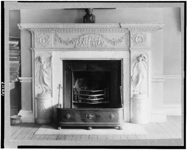 [Mantle and fireplace in parlor, Octagon House, Washington, D.C.]