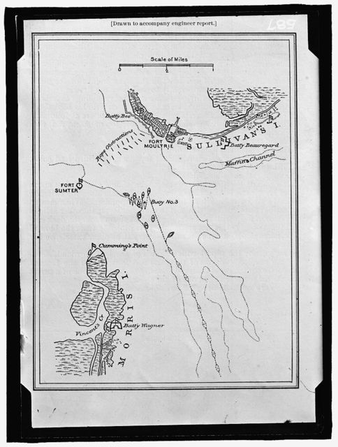 MAP [showing Fort Sumpter and Fort Moultrie]