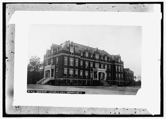 Marist Seminary, Catholic Univ., Brookland, D.[C.], east view