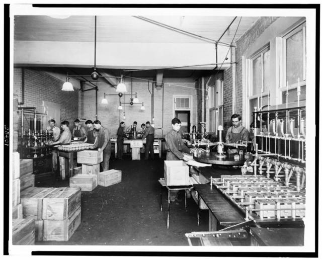[Men working in Pompeian Olive Oil Company]
