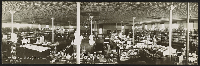 Mercantile Co., Rush City, Minn. Interior