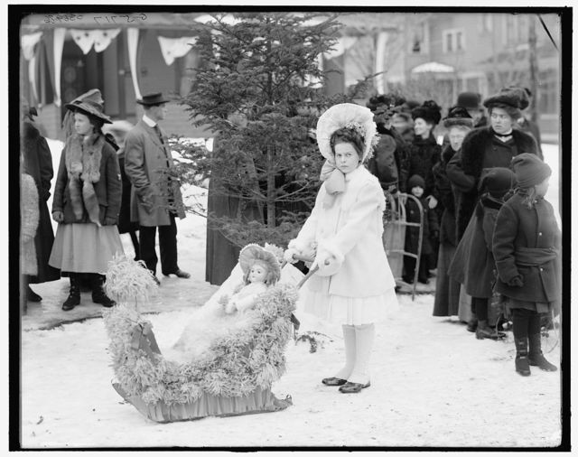 [Midwinter carnival, children's parade, Miss Johnson, winner of the first prize, Upper Saranac Lake, N.Y.]