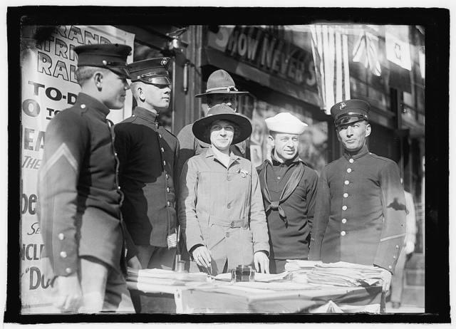 Miss Dora Rodrigues recruiting, World War I